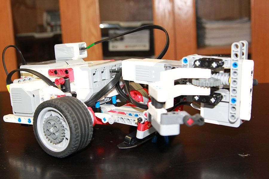 The competition robot Code Three placed third at the TCEA Area competition.