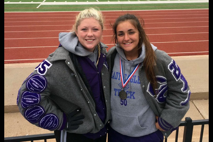 Senior Paitlyn Tankersley placed second in discus with a 128-01 throw. Senior Erin Doan placed second in shot put with a 42-08.50 throw.