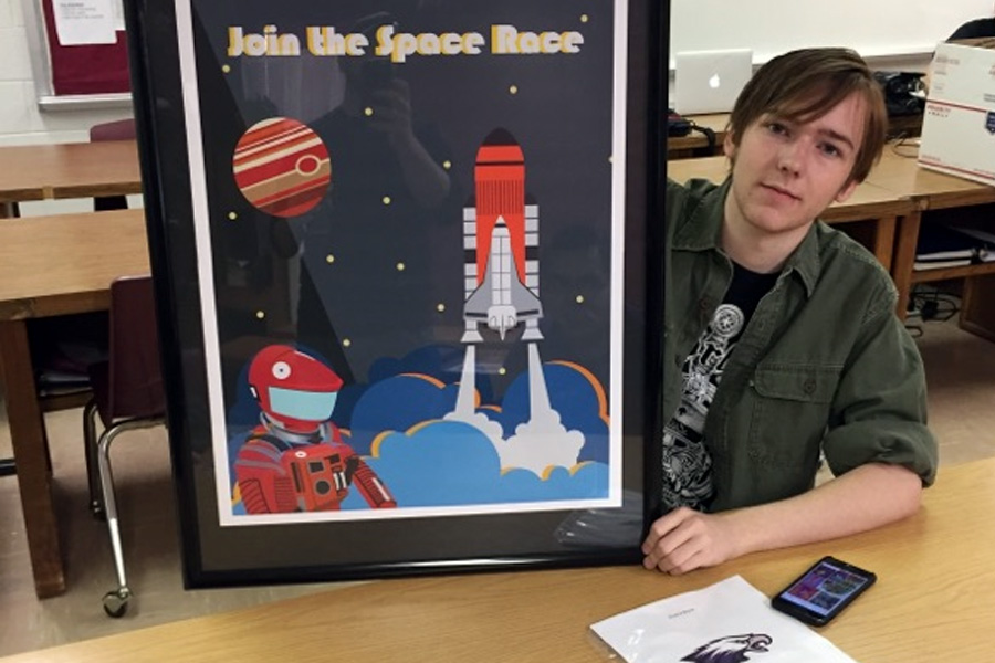 Junior Chance Neese won first place in computer generated graphic art.