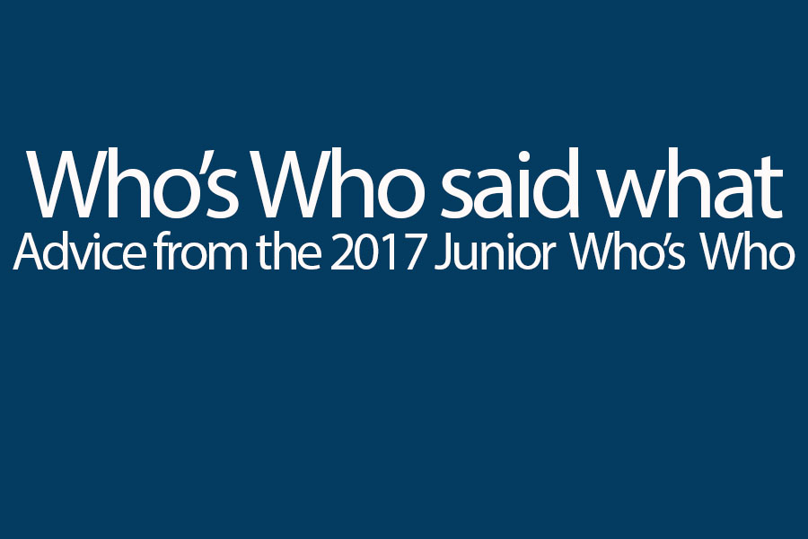 15 named Junior Whos Who
