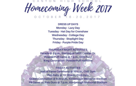Homecoming events fill week