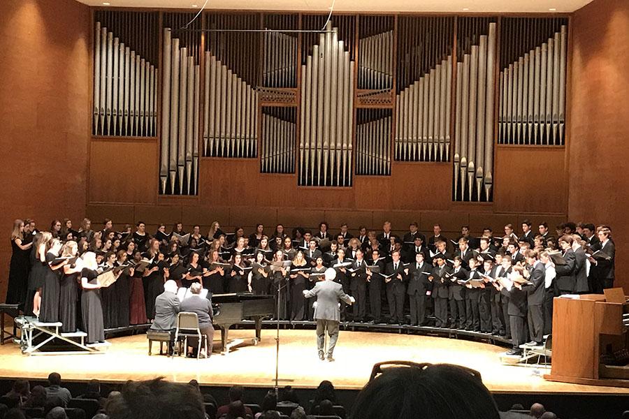 The All-Region Choir performs at West Texas A&M University Tuesday, Nov. 7.