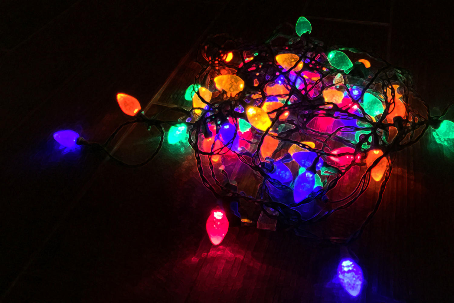 Christmas lights reminiscent of 'Stranger Things' season one.