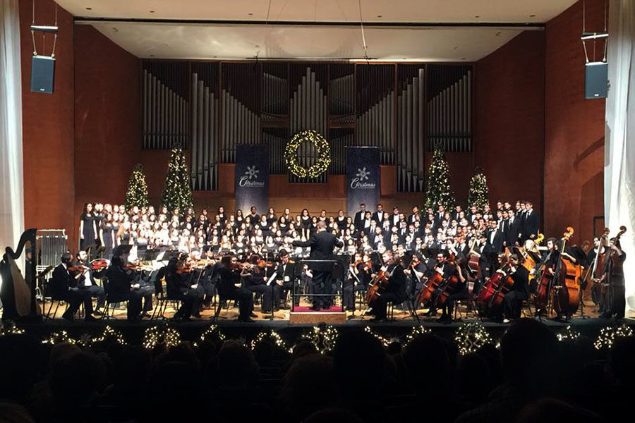 The Canyon High School chamber choir sang with the WTAMU combined choir and WTAMU orchestra Sunday, Dec. 3