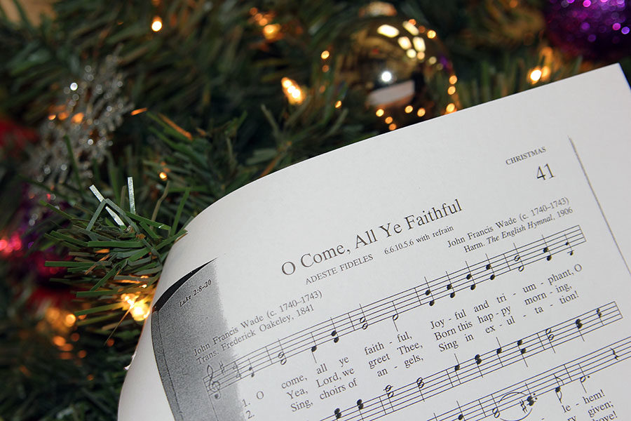 Choir members will lead the audience in Christmas carols between sets during the Christmas concert Monday, Dec. 18.