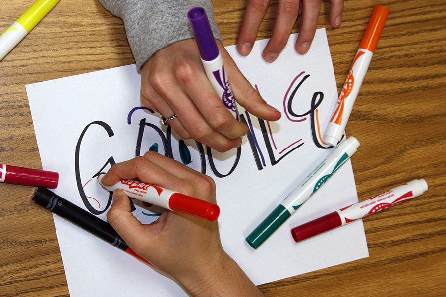 Students have until Friday to design a submission for the Google doodle contest.