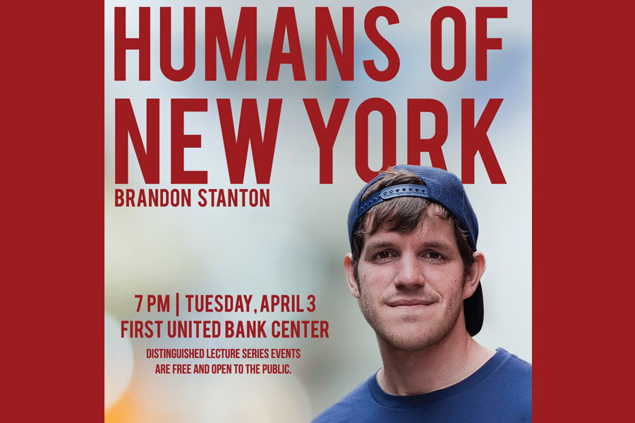 Creator of Humans of New York will speak 7 p.m. at the First United Bank Center.