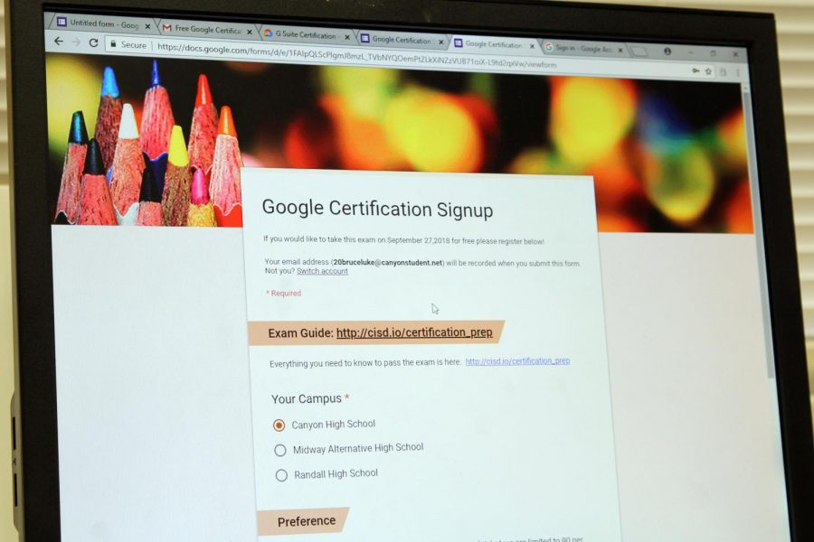Students must register online  by Sept. 20 to be part of the Google certification test.