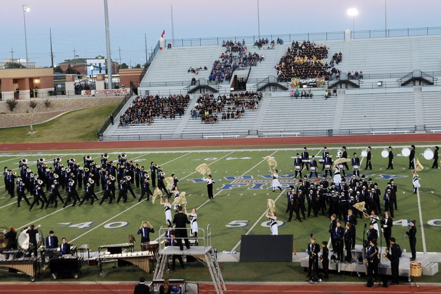 The Soaring Pride band competes at the area contest where they earned the right to perform in San Antonio at the Alamodome Wednesday, Nov. 7.