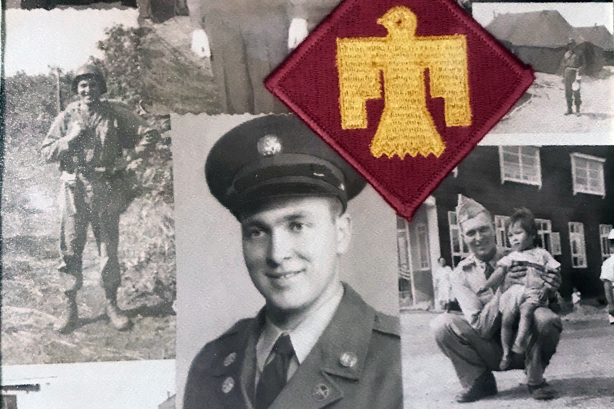 Leon Henley served in the Army with the 45th Infantry, known as