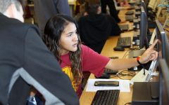 Hour of Code brings fourth graders to high school for coding activities