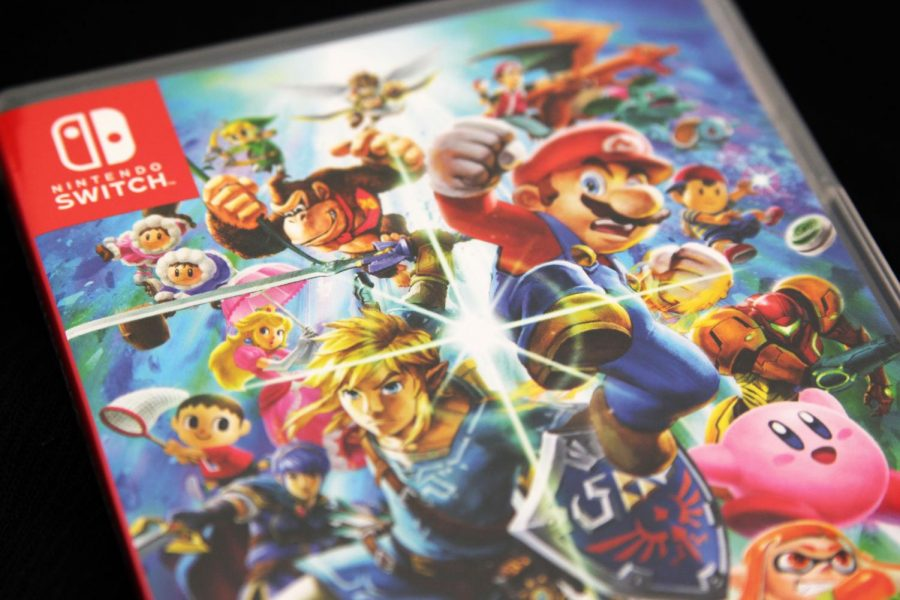 The cover art for Super Smash Bros. Ultimate features Mario, Link and several other Nintendo characters.