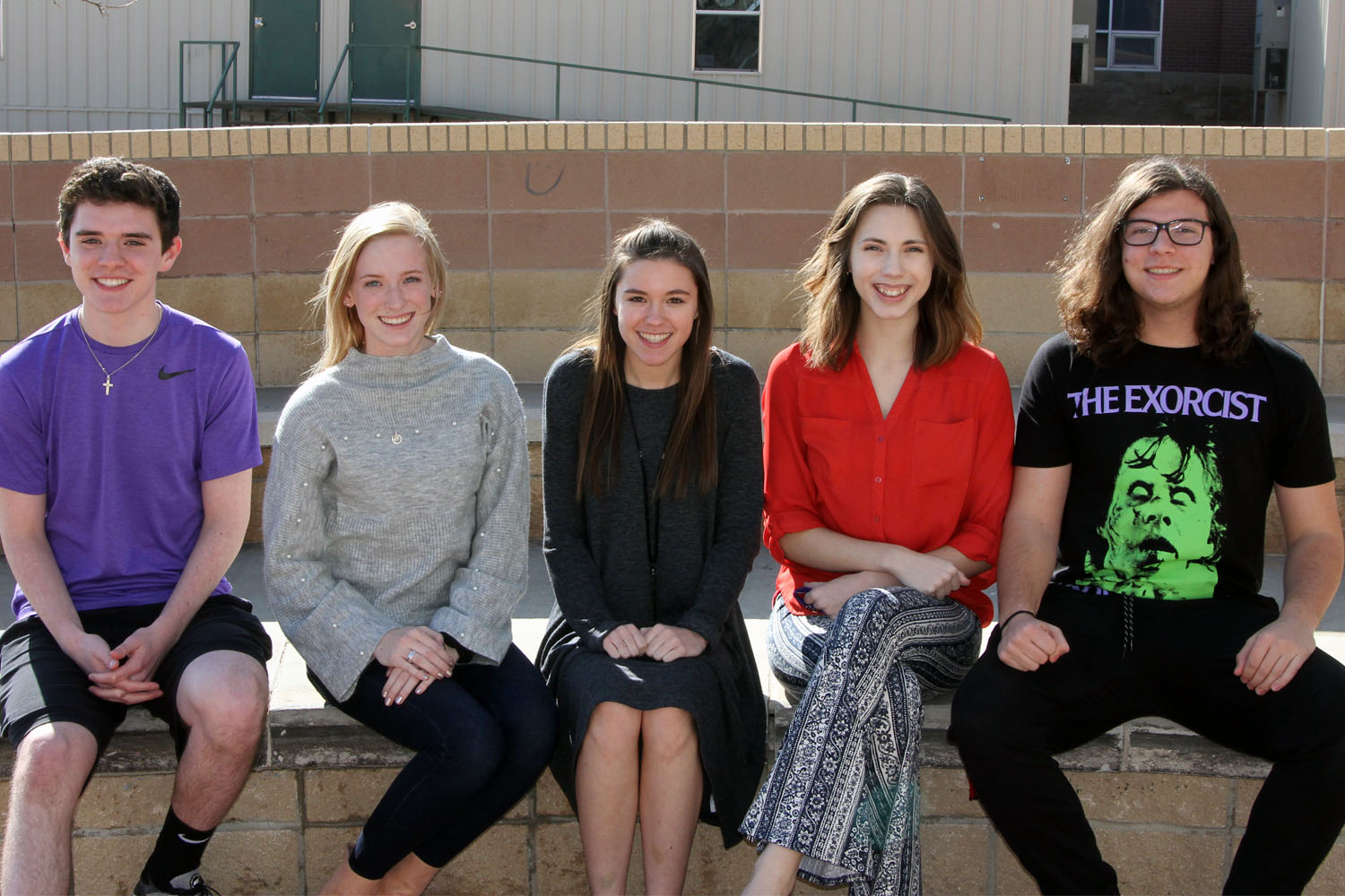 Seniors Conner Nall and Katelyn Spivey, junior Mia Bonds, senior Erin Sheffield and sophomore Brennen Copeland will sing in All-State Choirs this February.