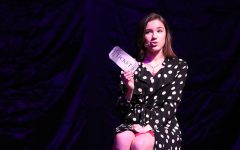 "Junior Mia Bonds presents her ticket home during ""Not for the Life of Me"" from ""Thoroughly Modern Millie."""