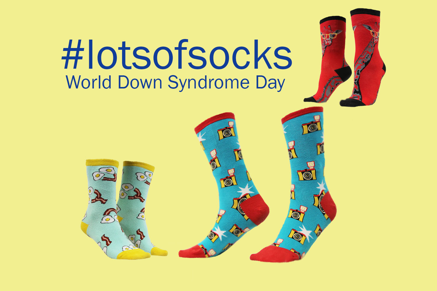 Students can use #lotsofsocks to upload photos of themselves wearing fun socks for World Down Syndrome Awareness Day