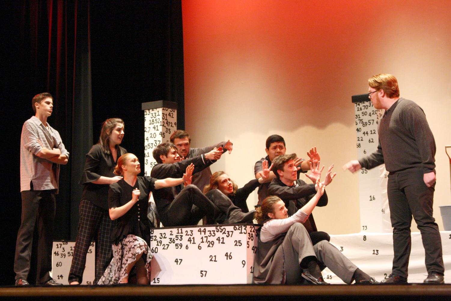 The One-Act Play features an ensemble which represent the main character's thoughts and emotions.