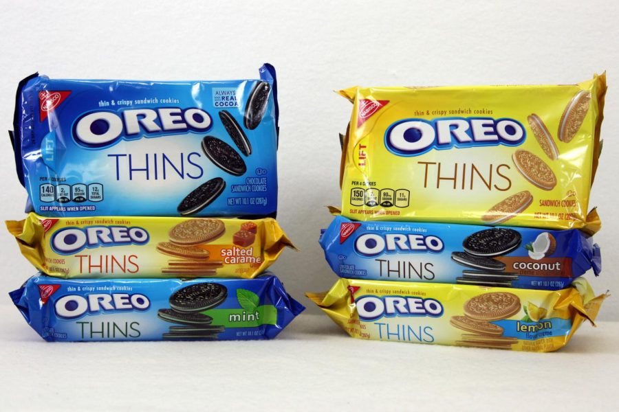 Journalism+staffers+tasted+six+versions+of+Oreo+Thins+and+selected+a+favorite.