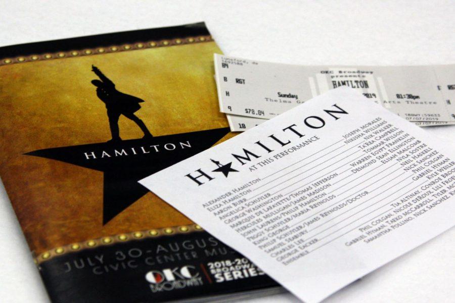 Hamilton centers around Alexander Hamilton played by Joseph Morgan and Aaron Burr played by Nik Walker.