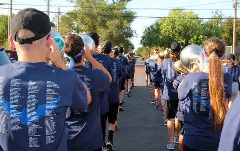 All band students participate in the Marchathon, a 10-mile march and fundraiser.