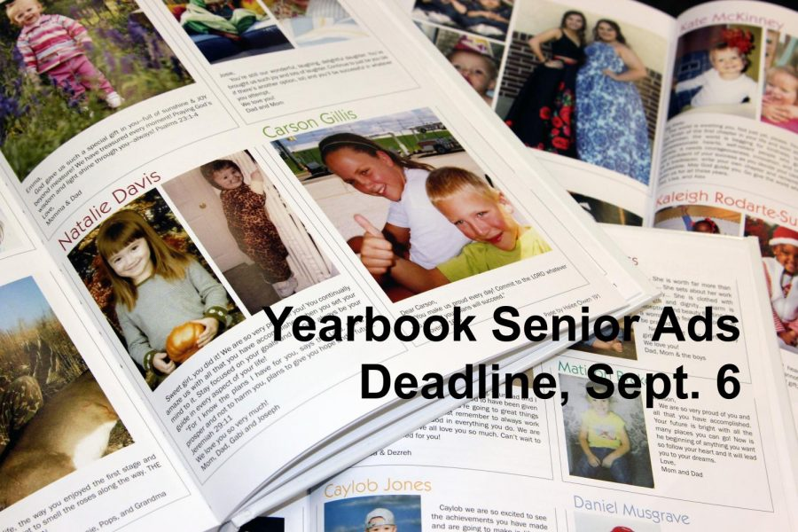 Senior ads, yearbooks on sale now