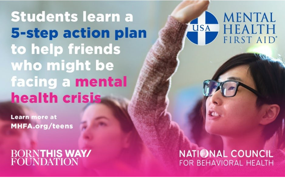 The tMHFA program teaches teens skills to use with friends and peers.
