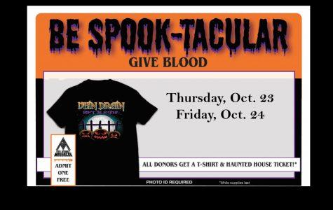 Blood drive begins Oct. 23