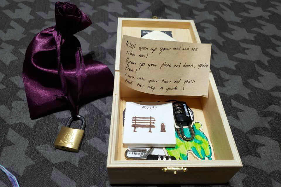 The clues in the box were related to Meyer and Smith's relationship.
