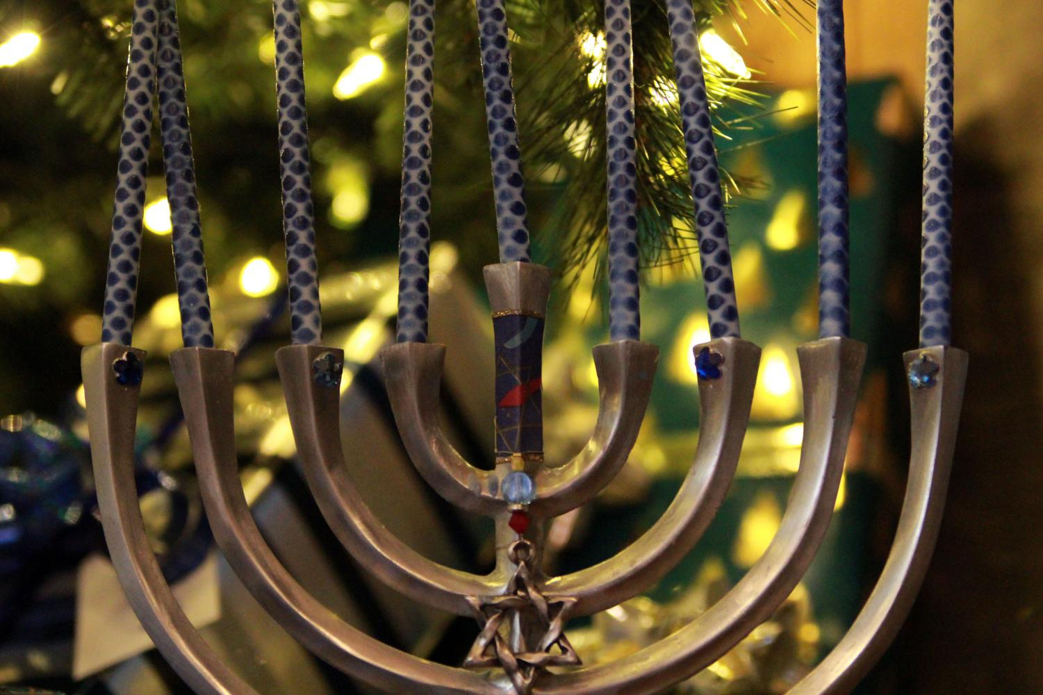 Hanukkah starts Sunday Dec. 22 and ends Monday Dec. 30, with Christmas on the fourth day of Hanukkah, Wednesday Dec. 25.