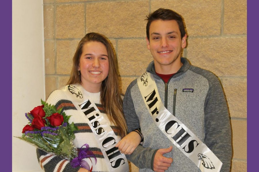 Seniors+Aidan+Hildinger+and+Ally+McBroom+were+named+Mr.+and+Miss+CHS+Dec.+3.+