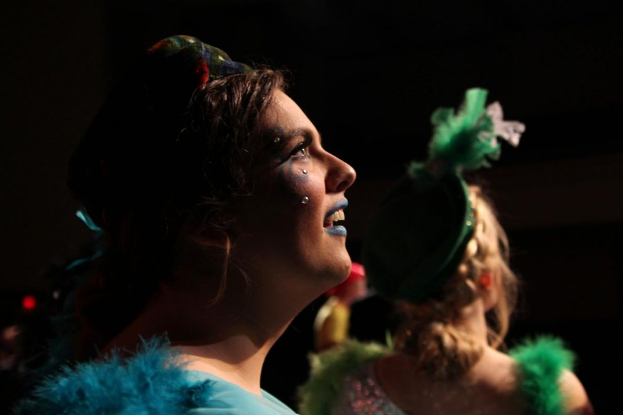 Senior Hannah Winbolt plays a supporting role as one of the bird girls.