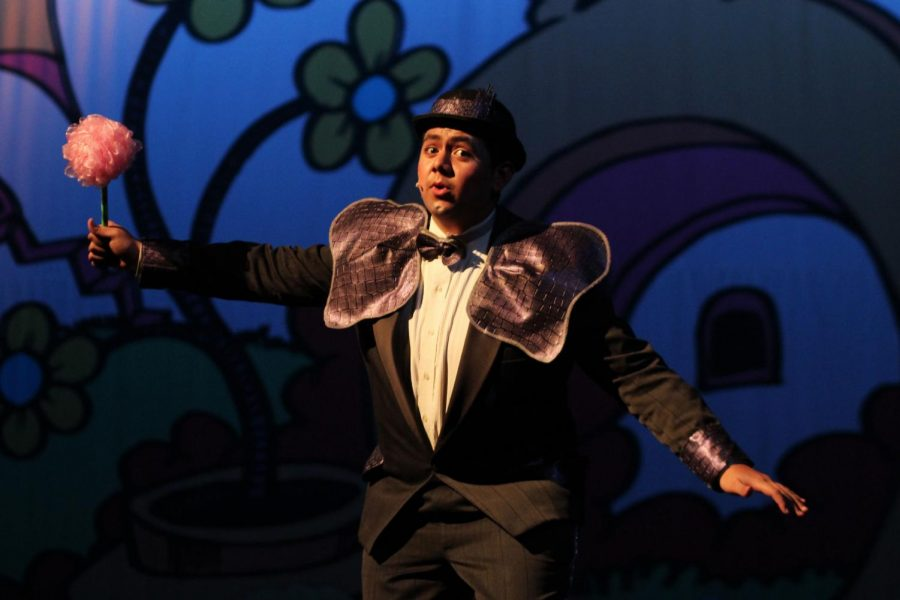 Junior Josh Moreno carefully protects the speck of dust in a clover as Horton.