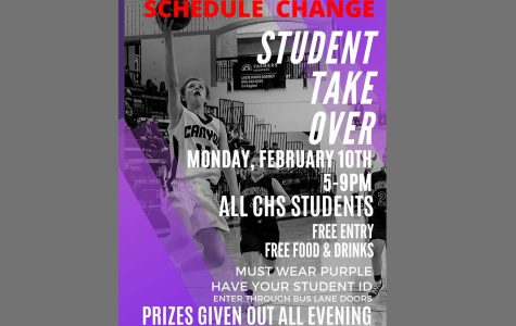 Student Takeover rescheduled for Monday, Feb. 10