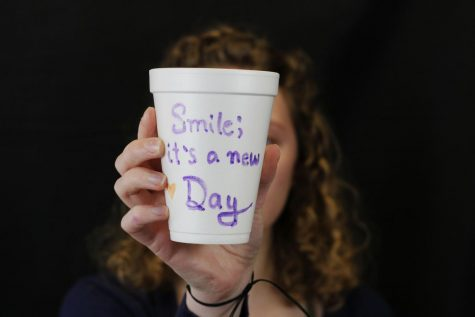LEAD Council members designed cups with inspiring messages, jokes and advice during a meeting Thursday, March 5.
