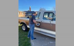 "Freshman Brett Rose is refurbishing his truck in preparation for learning to drive. ""It"