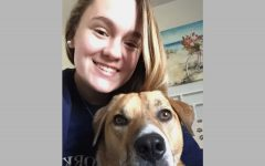"Junior Hannah Hamil frequently takes her dog, Nixon, on walks. ""Walking my dog has allowed me to get outside and it has added structure to my day,"" Hamil said. ""My advice is just to stay positive! It"