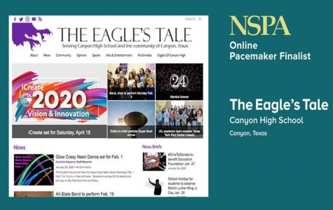 The Eagle's Tale was one of 28 online high school newspapers named as a 2020 Pacemaker finalist.