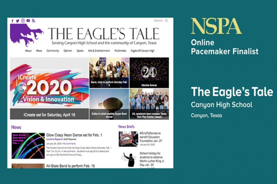 The+Eagle%27s+Tale+was+one+of+28+online+high+school+newspapers+named+as+a+2020+Pacemaker+finalist.