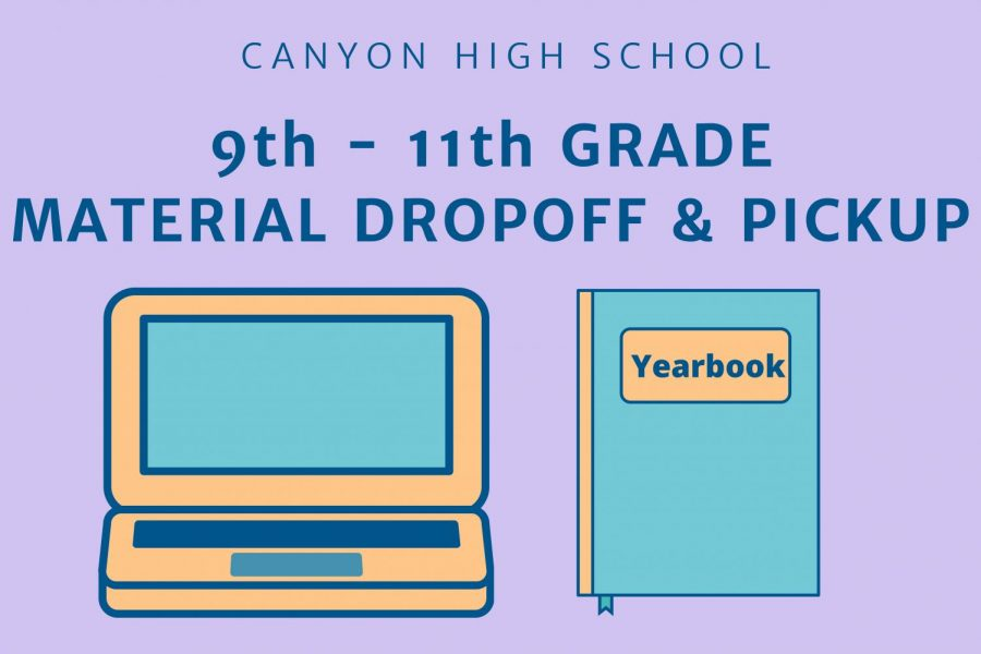 Student material drop-off, pick-up May 19-21