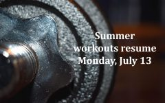 Student athletes began summer workouts with some restrictions in June.