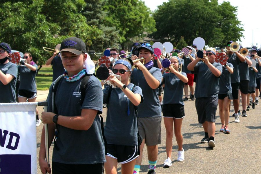The Soaring Pride Band marched 7.7 miles around Canyon this year during Marchathon.