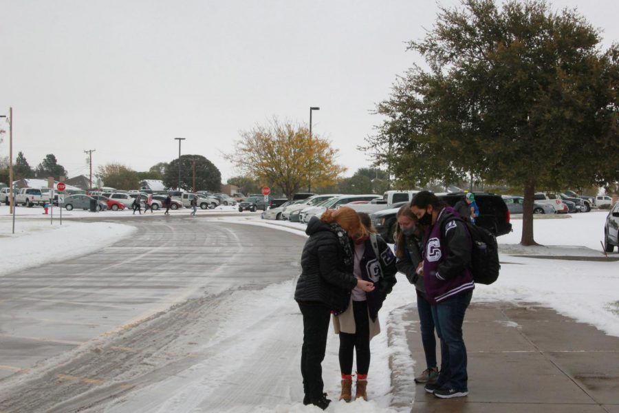 For the safety of students and staff, Canyon schools experienced a two-hour delay Tuesday, Oct. 27 and a snow day Wednesday, Oct. 28. A total of 4.5 inches fell across the Amarillo area on Wednesday setting a new Oct. 28 record for snowfall.