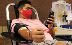 Senior Josh Moreno donated at the Back-to-School Blood Drive in August, his fourth time donating blood.