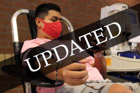 """Senior Josh Moreno donated at the Back-to-School Blood Drive in August, his fourth time donating blood. """"I always knew it was a good cause; it was a good thing to do,"""" Moreno said. """"Donating blood can help save someone"""