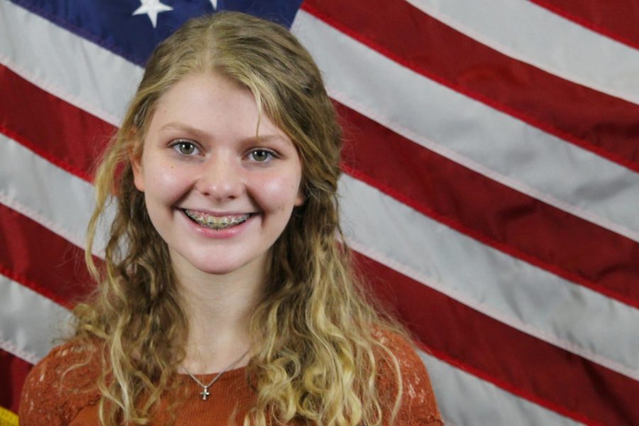 """Although sophomore Brooklyn Boman is not old enough to vote, she said she supports Republican nominee and incumbent, Donald Trump. """"Either way, there's going to be riots, and there are going to be people who are not happy with it,"""