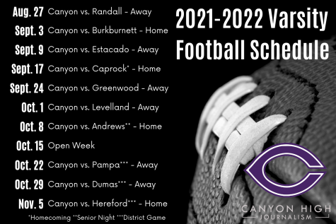 2021 Varsity Football roster, schedule