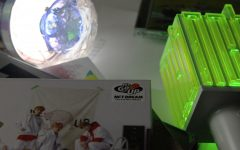 LIghtsticks, a phenomenon unique to Asian music, are plastic cheering lights fans bring to concerts. The lights are unique to the band, and can range from $30 to $100. Some lightsticks even hook up to bluetooth and can create designs within the crowd.
