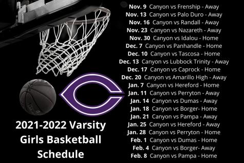 2021 Varsity girls basketball